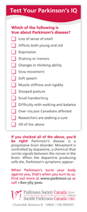 Test Your Parkinson's IQ Info Card