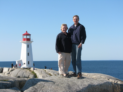 Winnipeg resident, Doug Martens wins SuperWalk Early Bird Prize. Shown here on vacation with wife Carol.