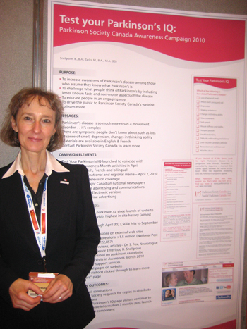 Barbara Snelgrove at World Parkinson Congress