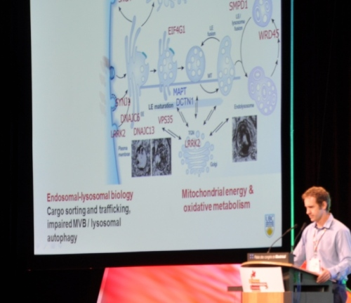 Dr. Matthew Farrer presents to attendees of WPC 2013 in Montreal.
