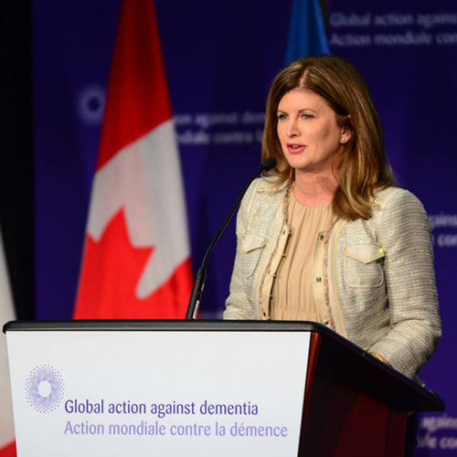 Minister of Health Rona Ambrose speaks at the Canada-France Global Dementia Legacy Event.
